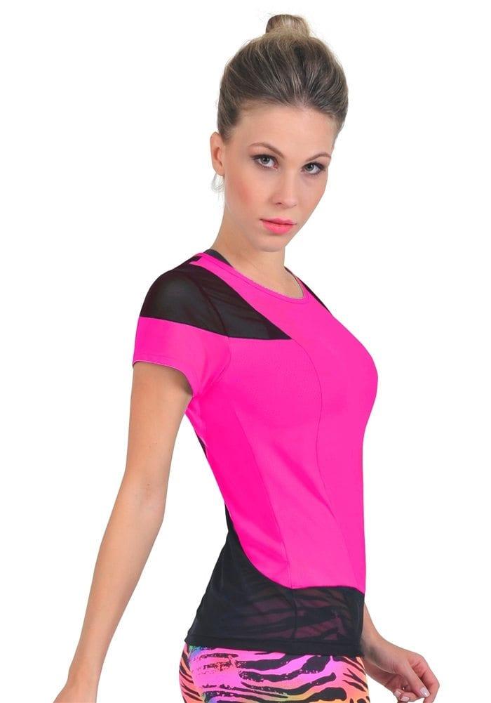 efd3c73bf44f8f Bia Brazil TT4409 Mesh Hot Pink-Sexy Workout Tops