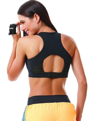 CAJUBRASIL 5600 Sexy Sports Bra Top SU Mesh Black