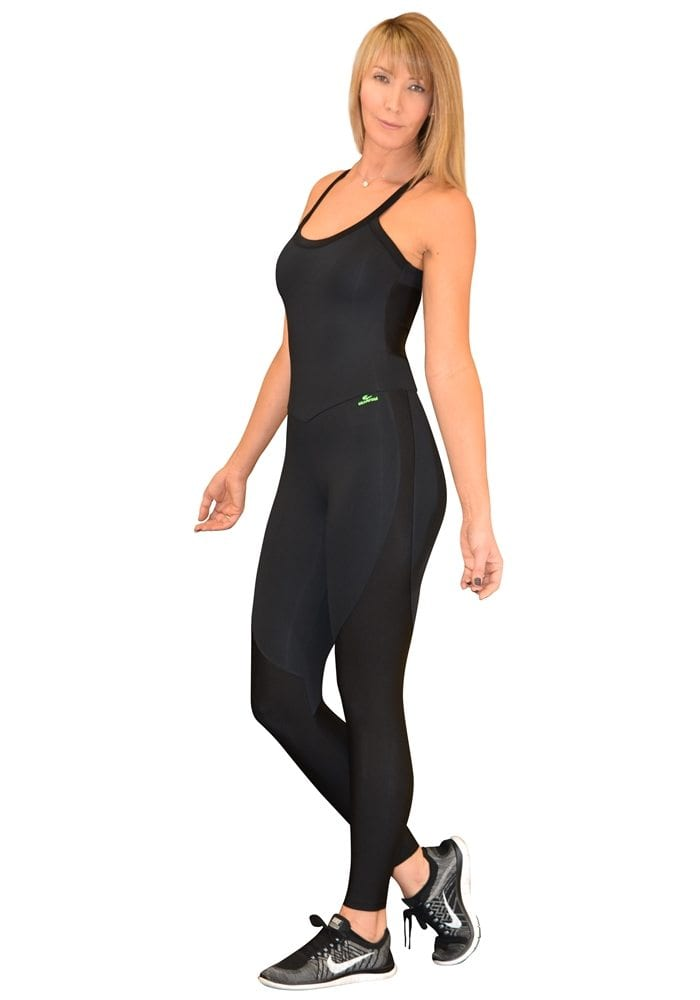 CAJUBRASIL 5680 Sexy Workout One-Piece Jumpsuit Yoga Black