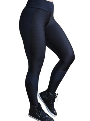 CAJUBRASIL 5237 EMANA Sexy Leggings Brazilian NZ Black