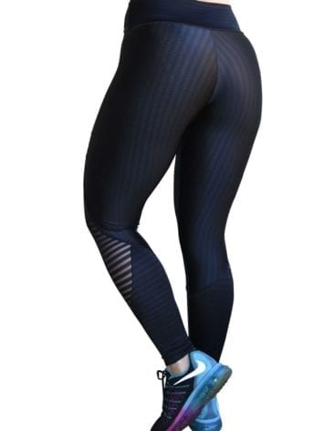 CAJUBRASIL 6261 Sexy Leggings Brazilian Stripes Black