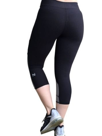 Nina B.Roze 2 Tone Hidden Pocket Gray- Sexy Yoga Capris