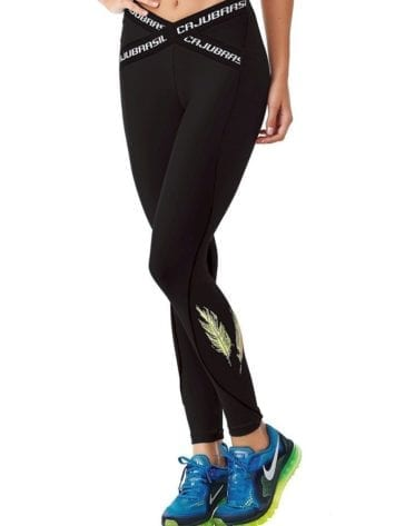 CAJUBRASIL 6252 Sexy Leggings Brazilian Elastic Black