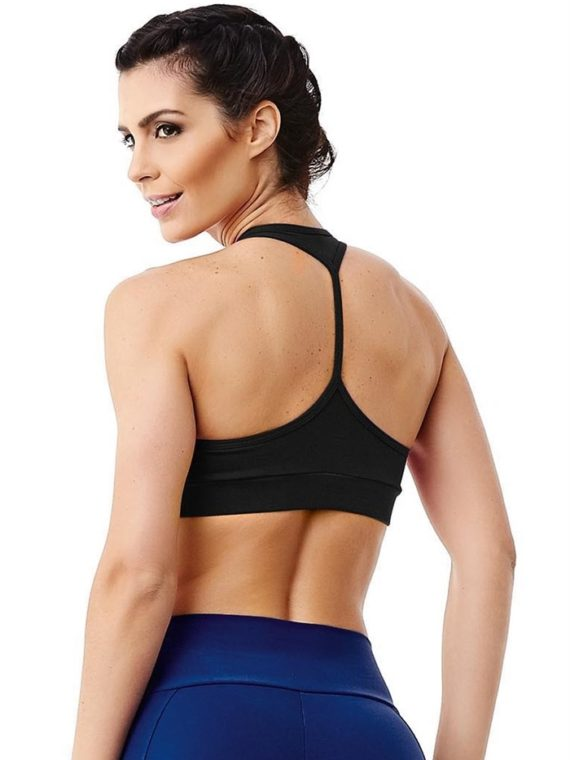 CAJUBRASIL 2939 Sexy Sports Bra Top SU Thread Black