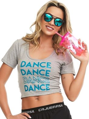 CAJUBRASIL Tank Top 8100 Crop Top Dance Sexy Yoga Top