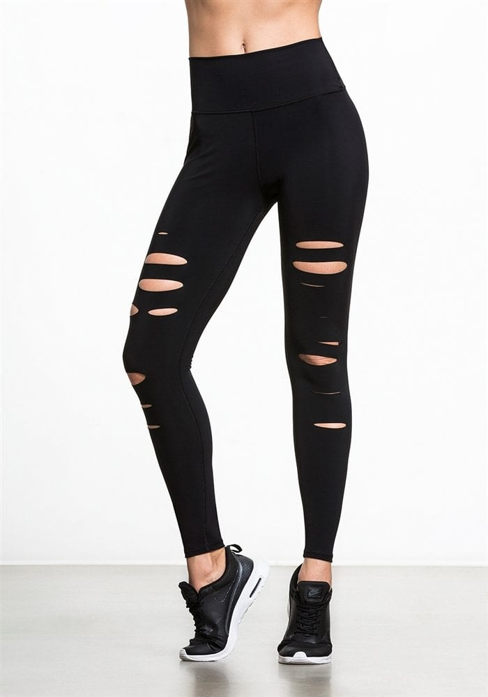 ALO Yoga Sexy Warrior Yoga Leggings Sexy Pilates Leggings Black