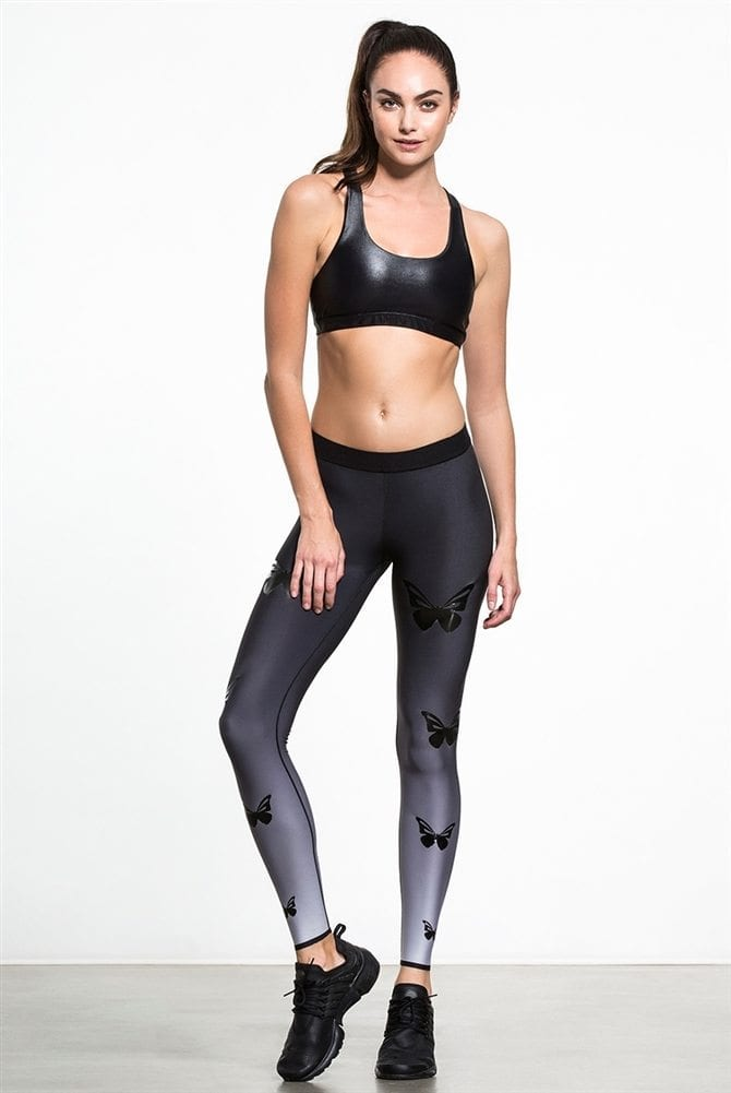 Ultracor Leggings High Lux Butterfly Glossy Leggings Sexy Workout