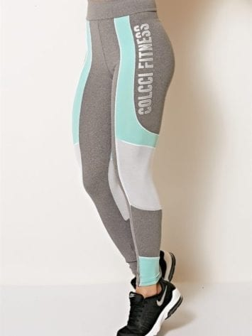 COLCCI FITNESS Leggings Sexy Mesh Leggings Jersey Mint
