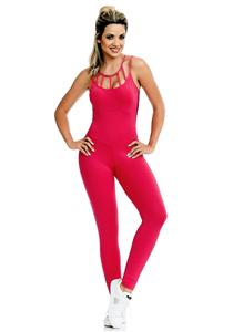 CAJUBRASIL Jumpsuit 8154 Sexy Workout  Romper Coral