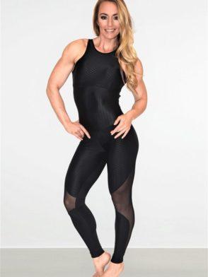 CAJUBRASIL Jumpsuit 8155 Elegance Sexy Workout  Romper BK