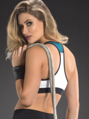 OXYFIT Bra Top Alley 27090 White Teal- Sexy Sports Bras