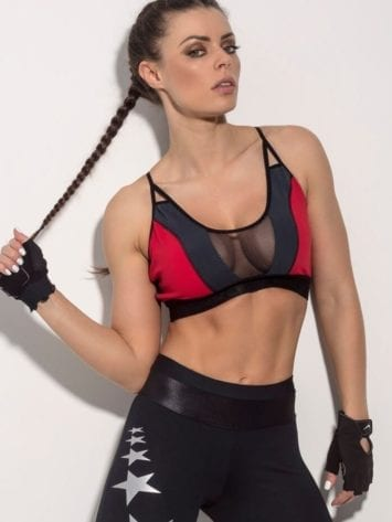 SUPERHOT Sports Bra TOP903 Mesh Sexy Workout Tops