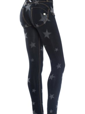 FREDDY WR.UP Shaping Effect – Reg Waist – Skinny – BLACK Denim Knockout Star Effect Dark Wash