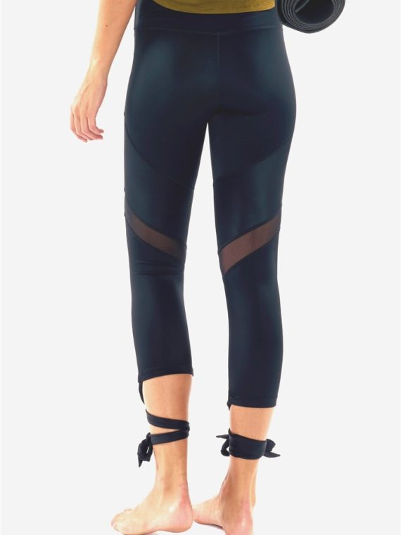 L'URV Leggings ESSENTIAL TIE 3/4 LEGGING Black Sexy Workout Tights