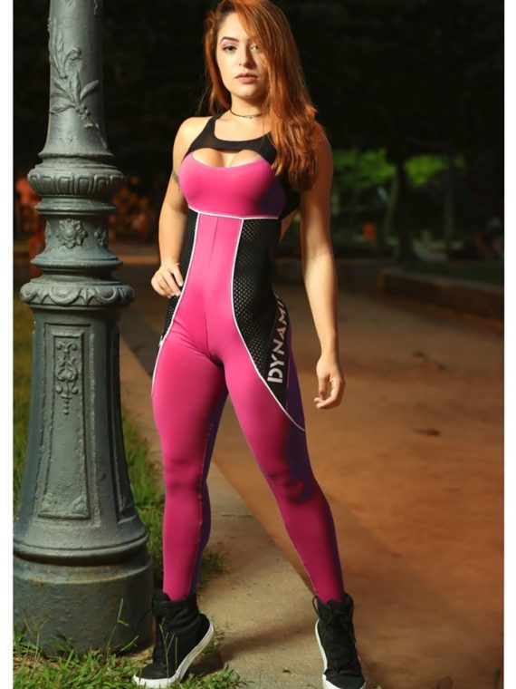DYNAMITE Jumpsuit ML2018-17-2 Ultra Pink Rosa-Sexy One-Piece Romper
