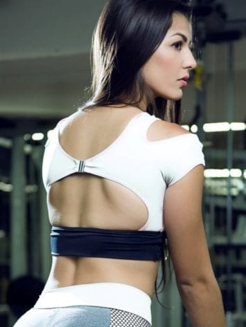 DYNAMITE Sports Bra Top T2015 Innocent Sinner WH-Sexy Tops