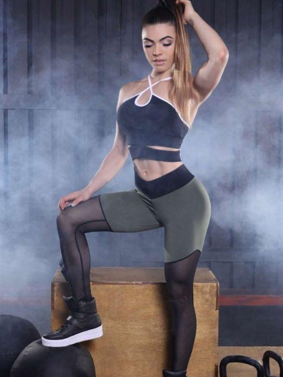 CANOAN  Leggings 11049 Military Mesh Sexy Workout Pants