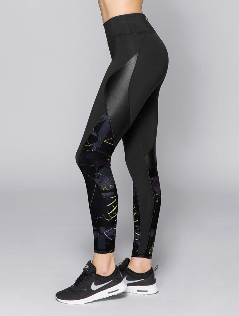 06870b6deb9624 ALALA Leggings Edge Ankle Tight in BK Jagged Sexy Workout Tights