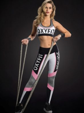 OXYFIT Leggings and Bra Top ALLEY Sexy Yoga Set Jersey Yogurte