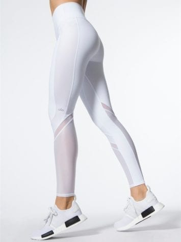 ALO Yoga Elevate Leggings Sexy Yoga Pants - white