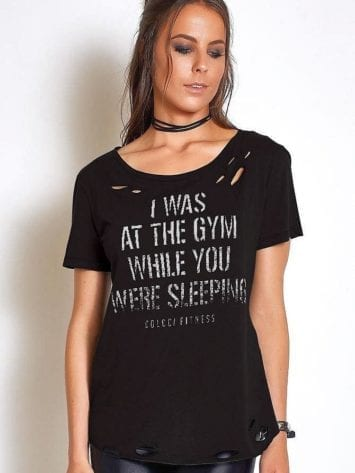 "COLCCI FITNESS T-Shirt 345700036 ""I Was at the GYM "" BK"