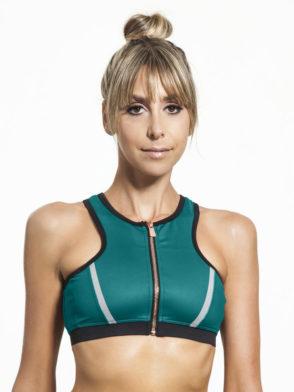 L'URV Crop Top I Am a Dreamer Green Emerald Sexy Workout Top