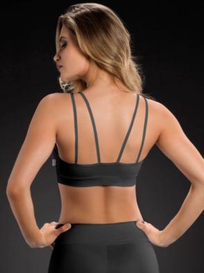 OXYFIT Bra Top 27086 Looped- Sexy Sports Bras- Black