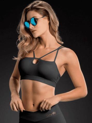 OXYFIT Bra Top 27086 Looped- Sexy Sports Bras- Black