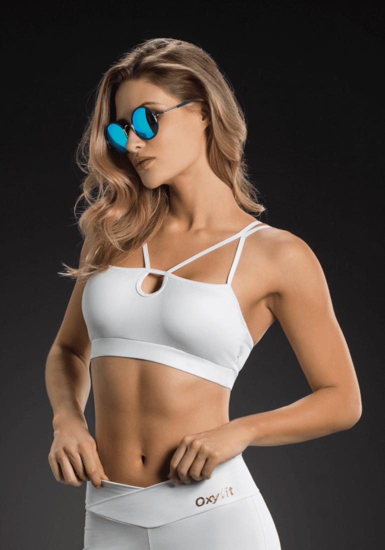 e190d682b2 OXYFIT Bra Top 27109 Hollywood - Sexy Sports Bras- White
