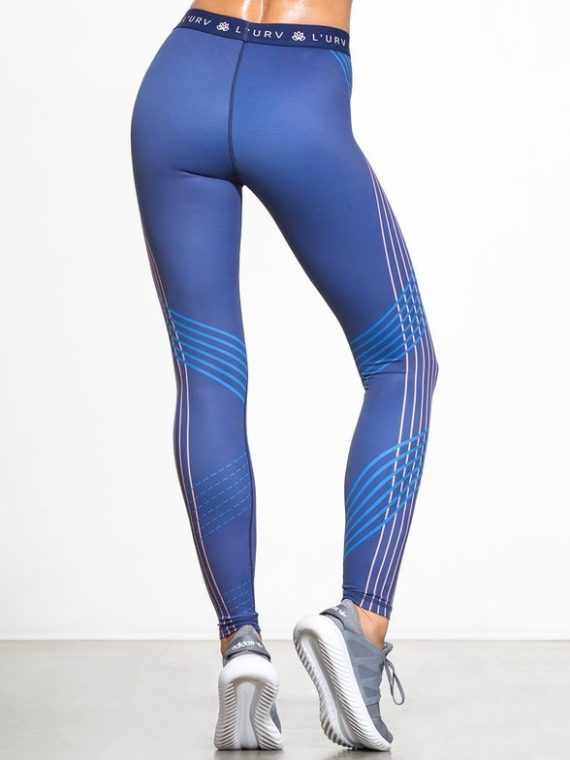 L'URV Leggings You are the One leggings Sexy Workout Tights Blue
