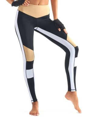 64601b271d108 L'URV Leggings BURN IT UP Leggings Sexy Workout Tights Black White ...