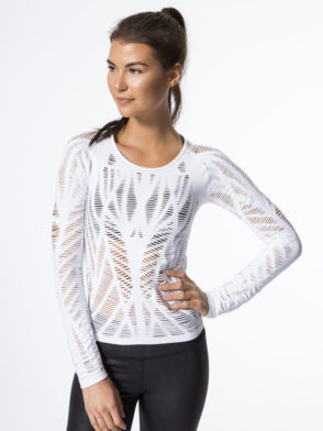 378a76ddc0cc1 ... Top Long Sleeve -Sexy Yoga Tops White.  69. wanderer white alo yoga  front