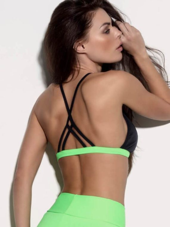 SUPERHOT Bra TOP1183 SEXY Workout Tops Cute YOGA Sport Bra Sexy Neon Green