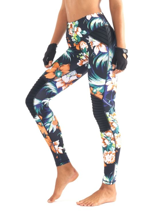 L'URV Leggings FLORAL FUNK MOTO Leggings Sexy Workout Tights