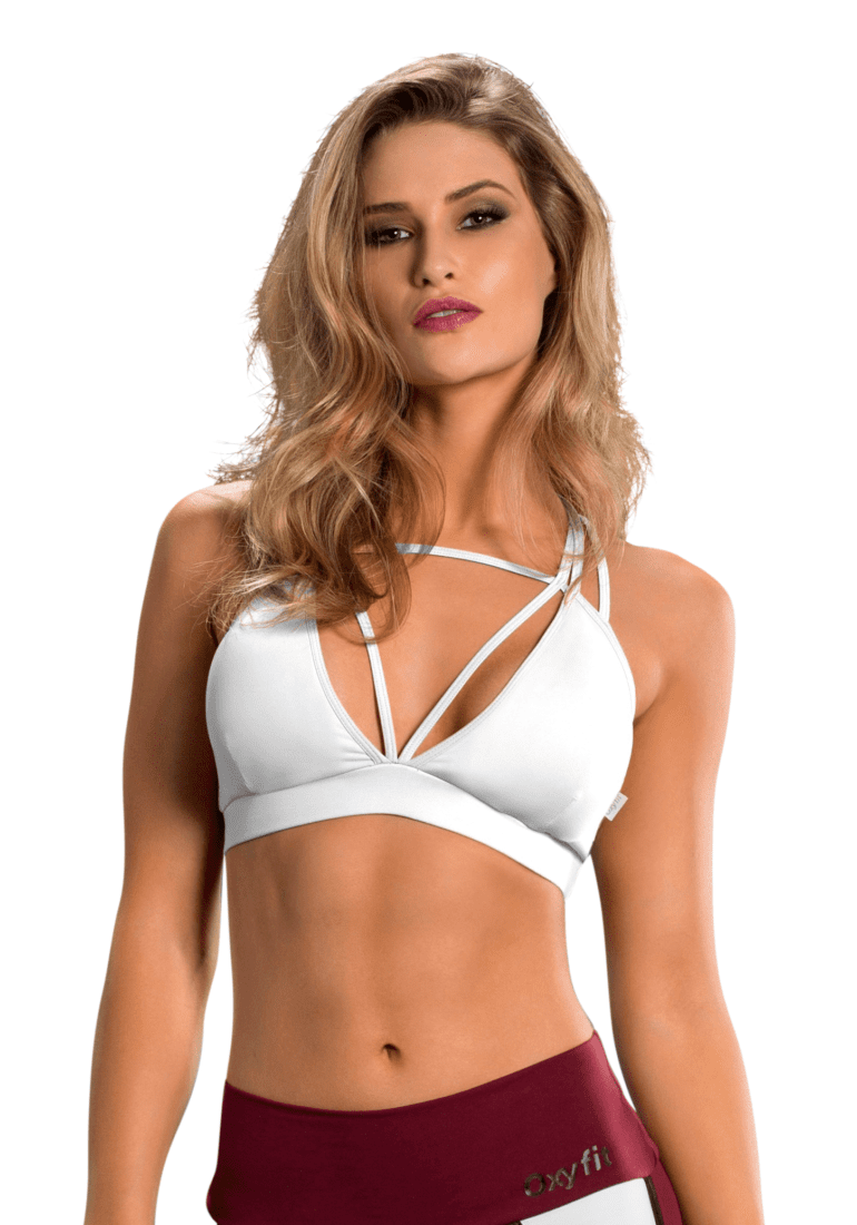 77ac3af79cd OXYFIT Bra Top Cutouts 27089 White - Sexy Sports Bras - Superhot ...
