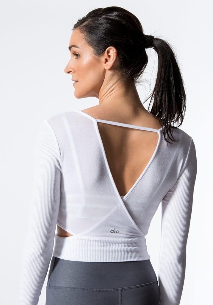 d20e461943329 ALO Yoga Amelia Long Sleep Crop Top -Sexy Yoga Tops white