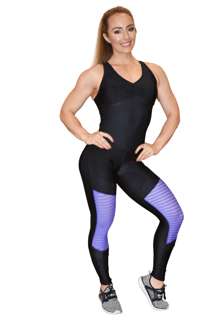 2cd1c5e95c8 ... CAJUBRASIL Jumpsuit 9069 Perfect Sexy Workout Romper Black