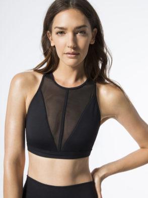 ALO Yoga Bra Empower Bra -Sexy Workout Bra Tops Black
