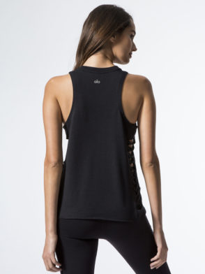 ALO Yoga Cut It Out Sexy Tank -Sexy Yoga Tops Black