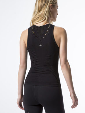 ALO Yoga Lark Fitted Sexy Tank -Sexy Yoga Tops Black