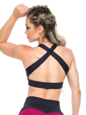 BOMBSHELL BRAZIL Sports Bra Bulge - Black -Sexy Workout Top