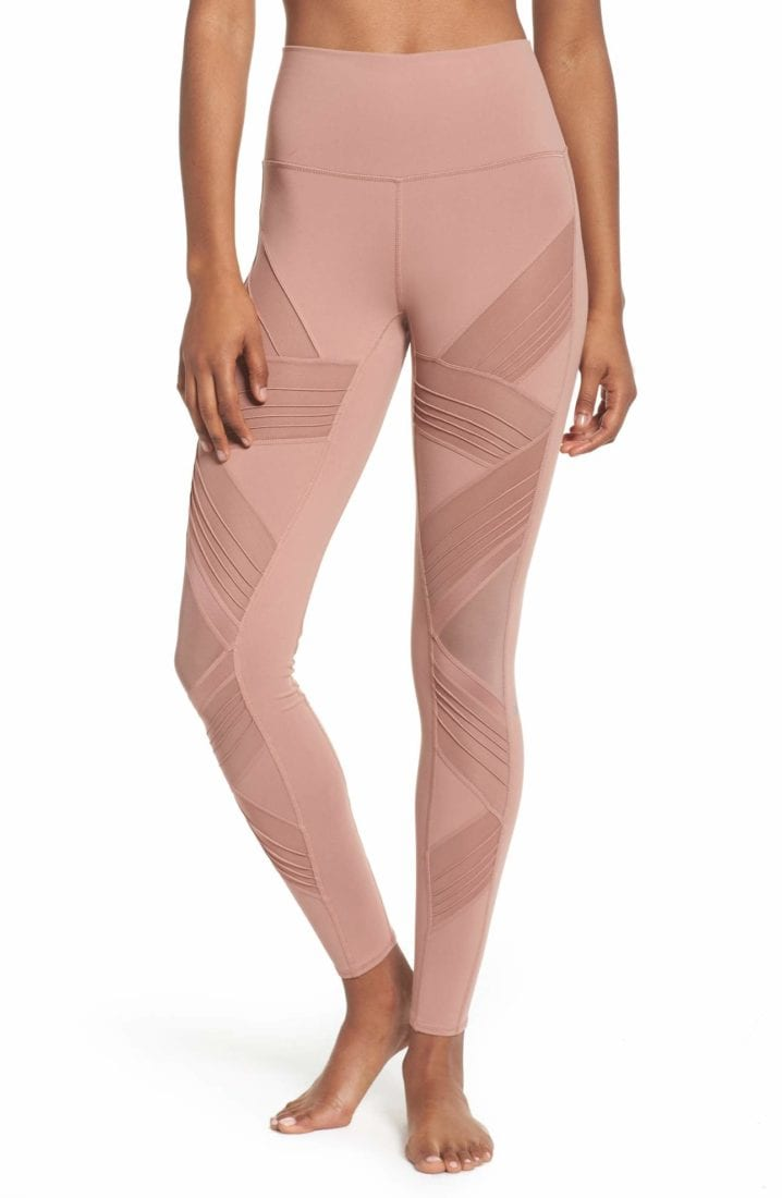 ca52a36405 ALO Yoga Sexy High-Waist Ultimate Leggings Sexy Pilates Leggings Rosewater