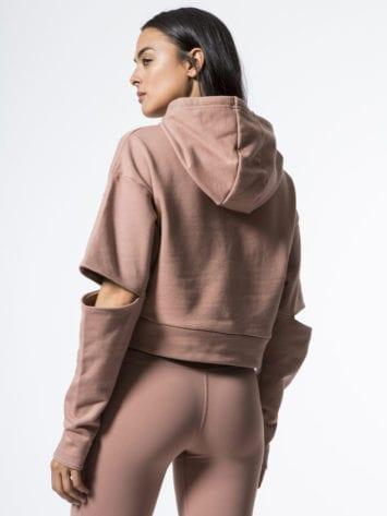 ALO Yoga Peak Long Sleeve Top -Sexy Yoga Tops Rosewater