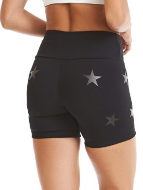 CAJUBRASIL Shorts 9604 Knockout Stars Black – Sexy Yoga Shorts- Brazilian