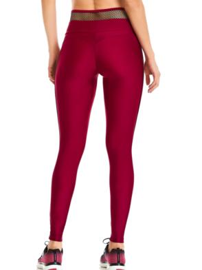 CAJUBRASIL Leggings 9652 Bordo- Cute Workout Clothes-Brazilian