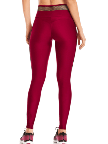 CAJUBRASIL Leggings 9652 Bordo- Cute Workout Clothes-Brazilian