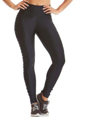 CAJUBRASIL Leggings 9655 Black- Cute Workout Clothes-Brazilian