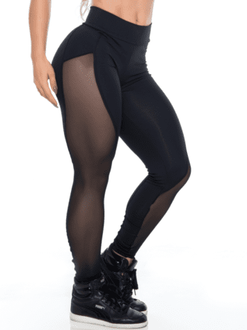 BOMBSHELL BRAZIL Leggings BRIGHT SEXY BLACK MESH -Sexy Leggings