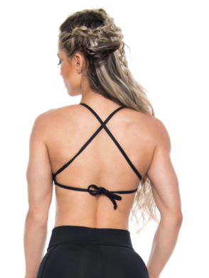 BOMBSHELL BRAZIL Sports Bra HOT GIRL - Black -Sexy Workout Top