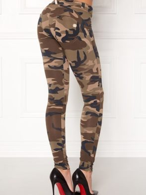 FREDDY WR.UP Shaping –  Camouflage Pattern Cotton -Shaping Effect – Low Waist – Skinny